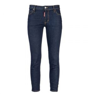 DSQUARED2 MEDIUM WAIST CROPPED TWIGGY JEAN S75LA0914 S30342 470-DARK JEAN