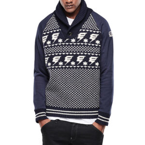 G-STAR RAW DALMAR SHAWL KNIT 86576F.2340.4213-MAZARINE BLUE