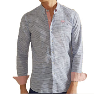 LA MARTINA SHIRT NMC022 PP434 F0043-WHITE/NAVY