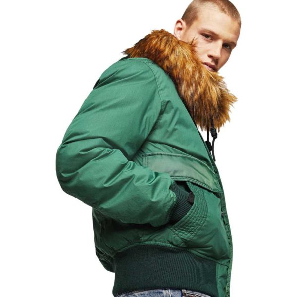 DIESEL W-BURKISH JACKET 00SWF2 0GAVS 5HS-GREEN