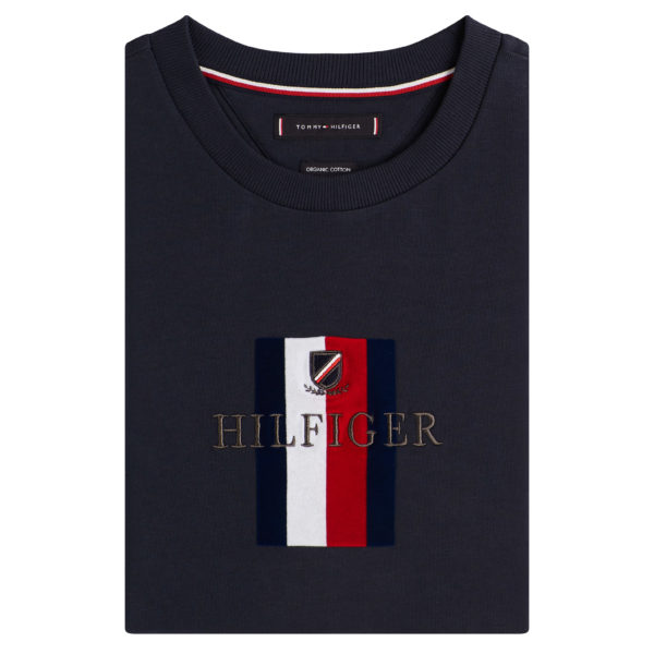TOMMY HILFIGER FLAG T-SHIRT RELAXED FIT MW0MW11837-NAVY