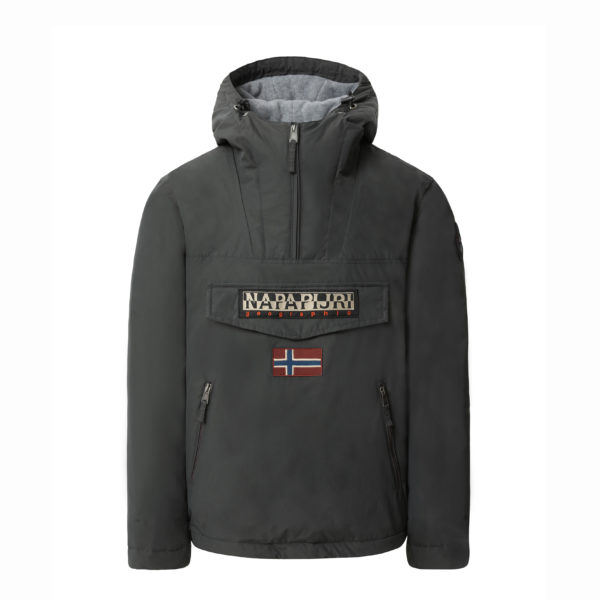 NAPAPIJRI RAINFOREST POCKET JACKET N0YGNL 198-DARK GREY SOLID
