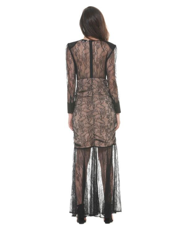LONG LACE DRESS HADDADA SILVIAN HEACH BLACK