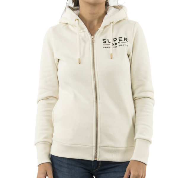 SUPERDRY HOOD SWEAT W2000009A-L60-SOFT WHITE