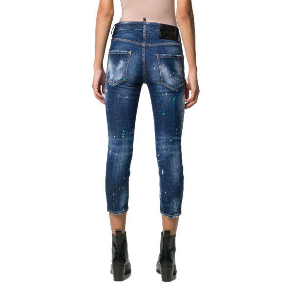 DSQUARED2 COOL GIRL CROPPED JEAN S72LB0209 S30342 470 BLUE