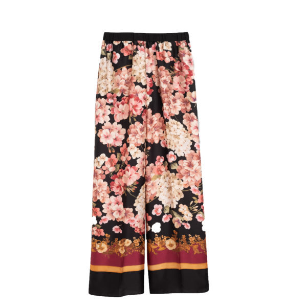 TWINSET PALAZZO TROUSERS 192TP2605-SCARF PRINT