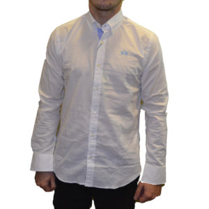 LA MARTINA POPLIN STRETCH SLIM FIT SHIRT OMC001 OXO52-00001-OPTIC WHITE