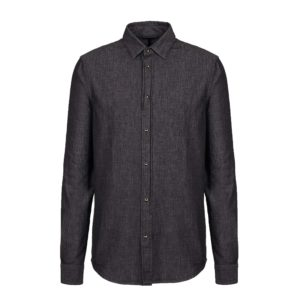 COTTON DENIM EMPORIO ARMANI BLACK SHIRT  6G1C67 1D5WZ-0005