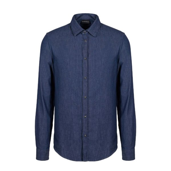 COTTON DENIM EMPORIO ARMANI BLUE SHIRT 6G1C67 1D5WZ1-0941