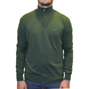 ΠΛΕΚΤΟ HALF ZIP LA MARTINA OMS003 YW020-03089 GREEN