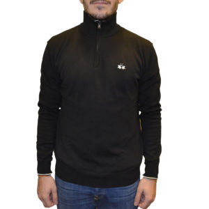 ΠΛΕΚΤΟ HALF ZIP LA MARTINA OMS003 YW020-09999 BLACK