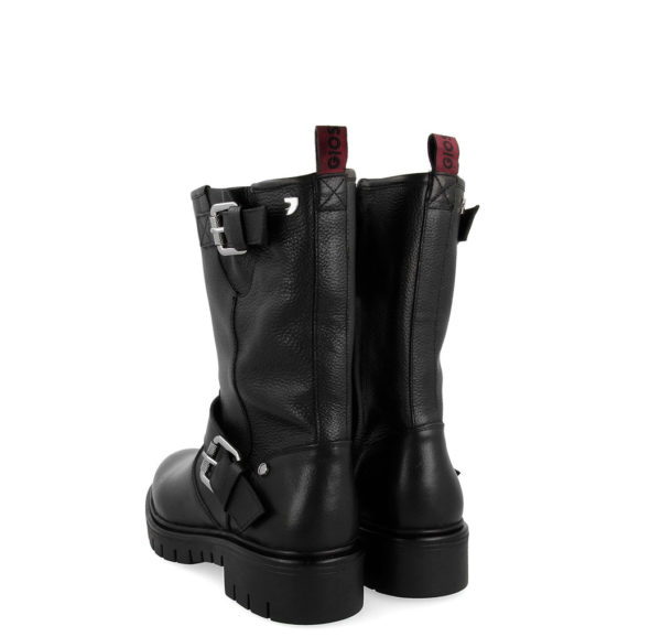 GIOSEPPO REMICH LEATHER WOMAN BOOTS 56588-BLACK