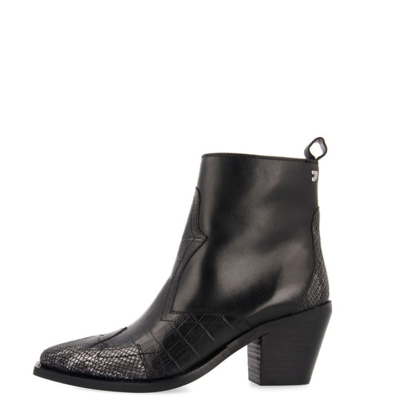 GIOSEPPO GOTHA LEATHER WOMAN BOOTS 56673-BLACK