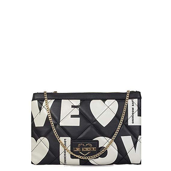 LOVE MOSCHINO CROSSBODY BAG JC4297PP08KJ100A-BLACK/WHITE