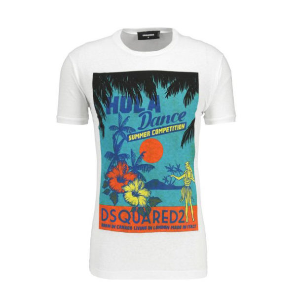 DSQUARED2 T-SHIRT S71GD0642 S22507 100-WHITE