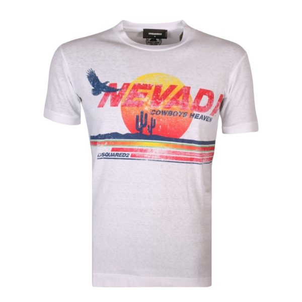 DSQUARED2 T-SHIRT S74GD0190 S22507 100-WHITE
