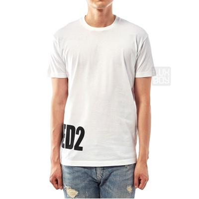 DSQUARED2 T-SHIRT S74GD0463 S22427 100-WHITE