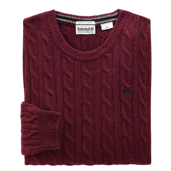 TIMBERLAND LAMBSWOOL SWEATER TB0A1WE8V15-BORDEAUX