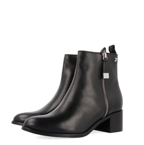 GIOSEPPO NOME LEATHER BOOTS 56653-BLACK