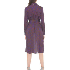 DRESS OKHRISS SILVIAN HEACH VIOLET/TERRACOTTA