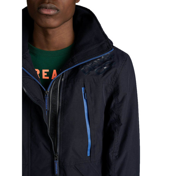 SUPERDRY HOODED POLAR WIND ATTACKER M5000049A-A7P NU NAVY