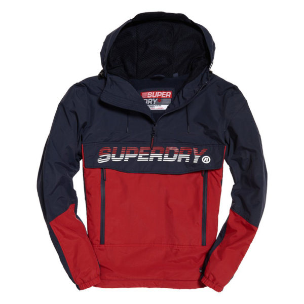SUPERDRY CORE OVERHEAD CAGOULE M5000018A-26S RED / BLUE
