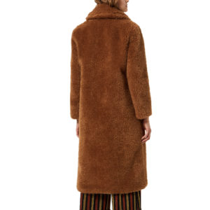 LIU JO LONG FAUX FUR COAT W69069-E0622 CARAMEL