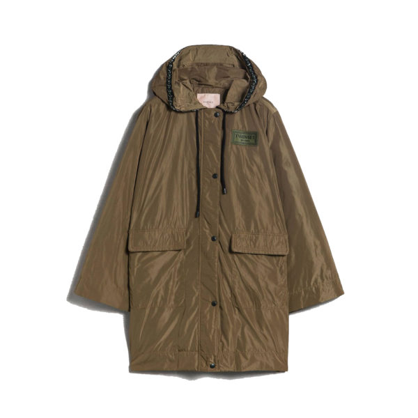 TWINSET LONG JACKET 192TP2490-03161 MILITARY GREEN