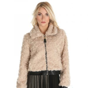 RELISH FAUX FUR JACKET RDA1905548058-1933 BIRCH BEIGE