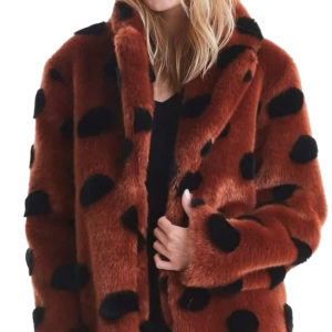 ICHI FAUX FUR 20110136-12259-BROWN / BLACK