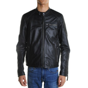 REPLAY LEATHER JACKET M8032 .000 83056 .010 BLACK