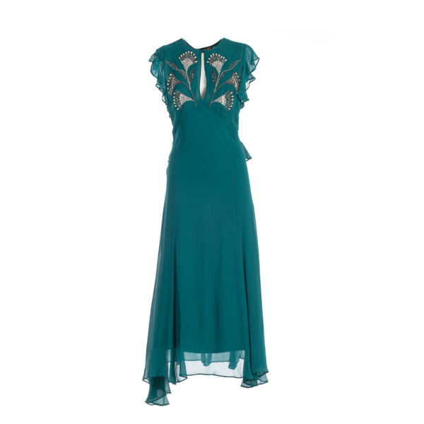 TWINSET DRESS 192TP2161-00540 MINERAL GREEN