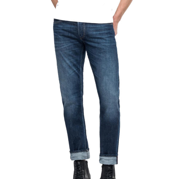 REPLAY GROVER STRAIGHT FIT JEAN MA972 000 174 566-007 BLUE