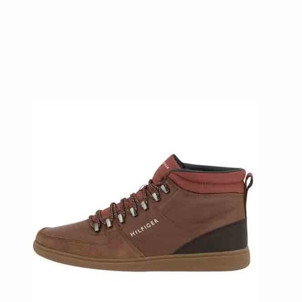 TOMMY HILFIGER CORE HIKING INSPIRED BOOTS FM0FM01836 606-COGNAC
