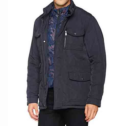 TRUSSARDI FIELD JACKET TWILL NYLON 52S00036 9Y099999 U290-BLUE