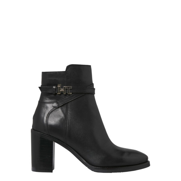 TOMMY HILFIGER LEATHER BOOTS FW0FW04284-990 BLACK