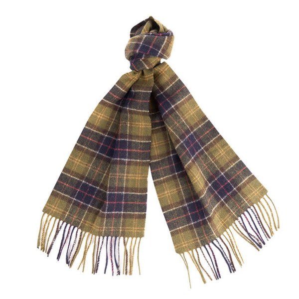 BARBOUR TARTAN LAMBSWOOL SCARF  USC0001TN11-GREEN