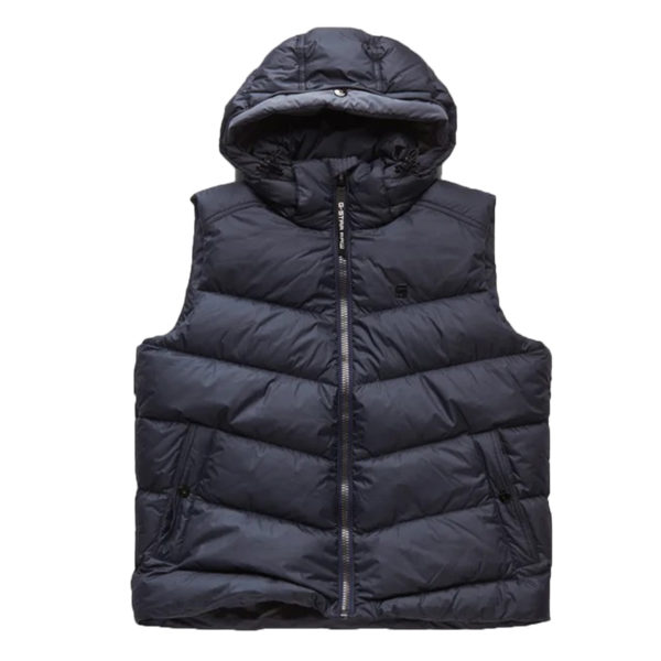 G-STAR WHISTLER DOWN VEST D14009-B418-4213-MAZARINE BLUE