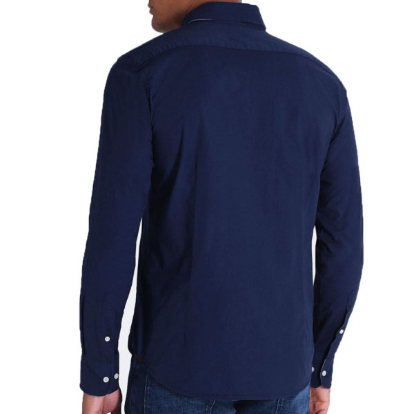 LA MARTINA LOGO REGULAR FIT SHIRT KMC311 PP003 07017-NAVY