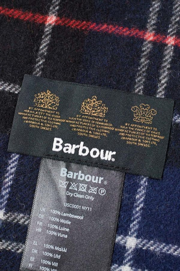 BARBOUR TARTAN LAMBSWOOL SCARF USC0001NY11-BLUE