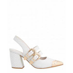 JEFFREY CAMPBELL WALTER PUMPS 0101002979 WHITE
