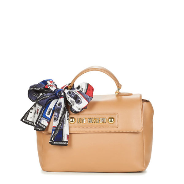 MOSCHINO LOVE BAG WITH SCARF JC4225PP08KD0201 BEIGE