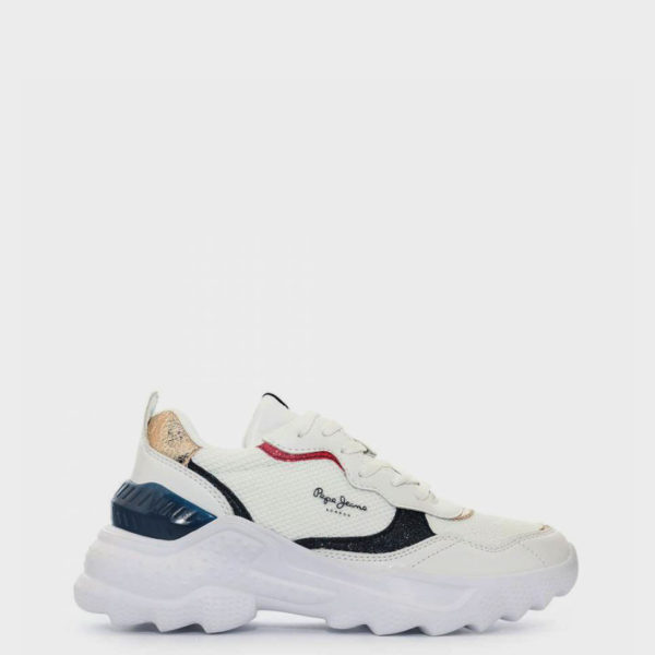 PEPE JEANS SPORTS SHOES PLS31000 800 WHITE