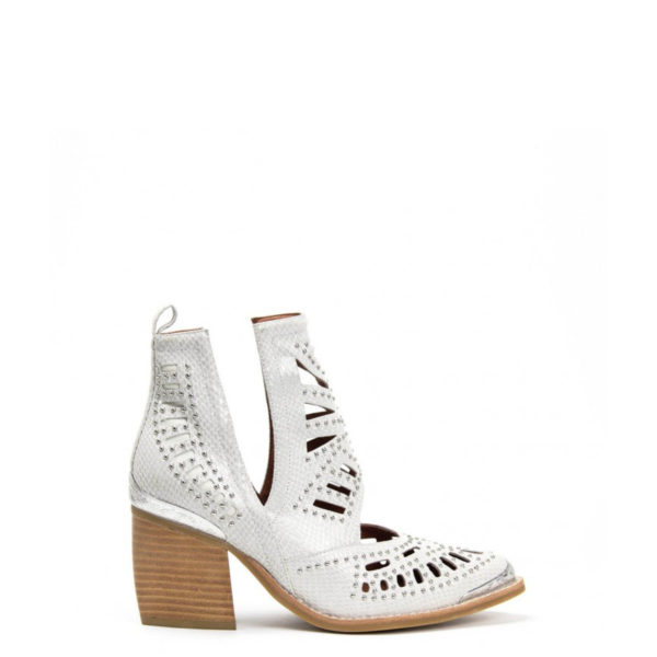 JEFFREY CAMPBELL LEATHER MACEO BOOTS 0101002907 WHITE