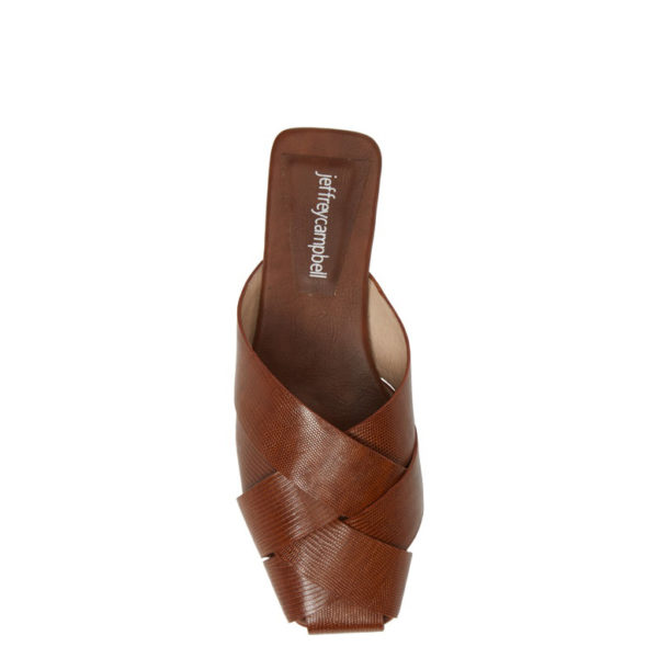 JEFFREY CAMPBELL LEATHER MULES 0101002859 BROWN