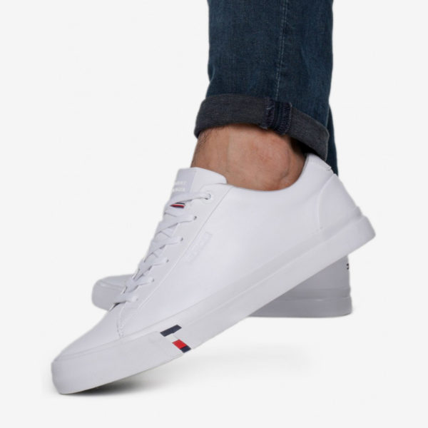 TOMMY HILFIGER ORTHOLITE SPORTS SHOES FM0FM02672-YBS WHITE