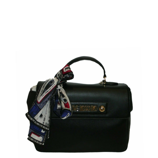 MOSCHINO LOVE BAG WITH SCARF JC4225PP08KD0000 BLACK