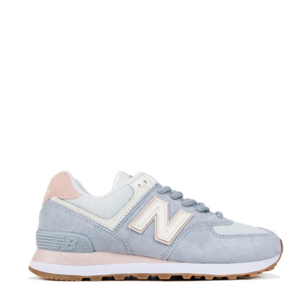 NEW BALANCE SNEAKERS WL574SUO-LIGHT BLUE