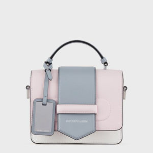 EMPORIO ARMANI LEATHER BAG Y3A128YTG6E-84335 PINK / BLUE