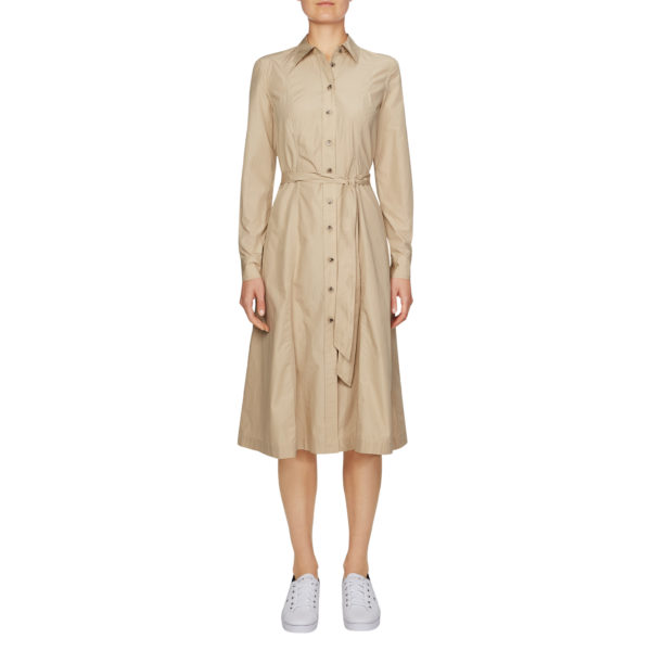 TOMMY HILFIGER SHIRT DRESS WW0WW27321-AEG BEIGE